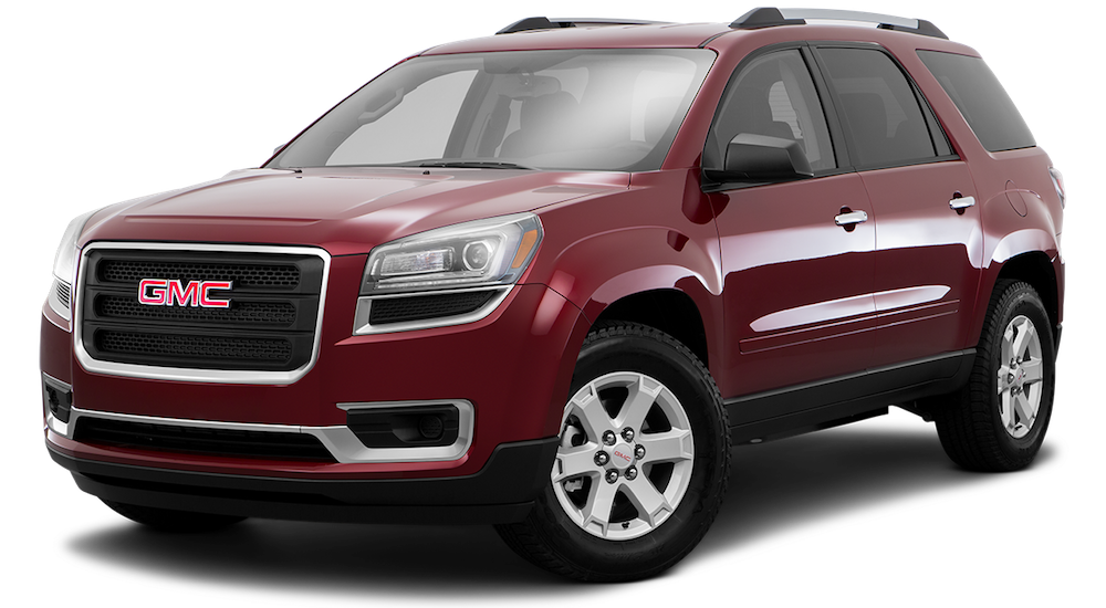 Dark Red 2016 Used GMC Acadia angled left