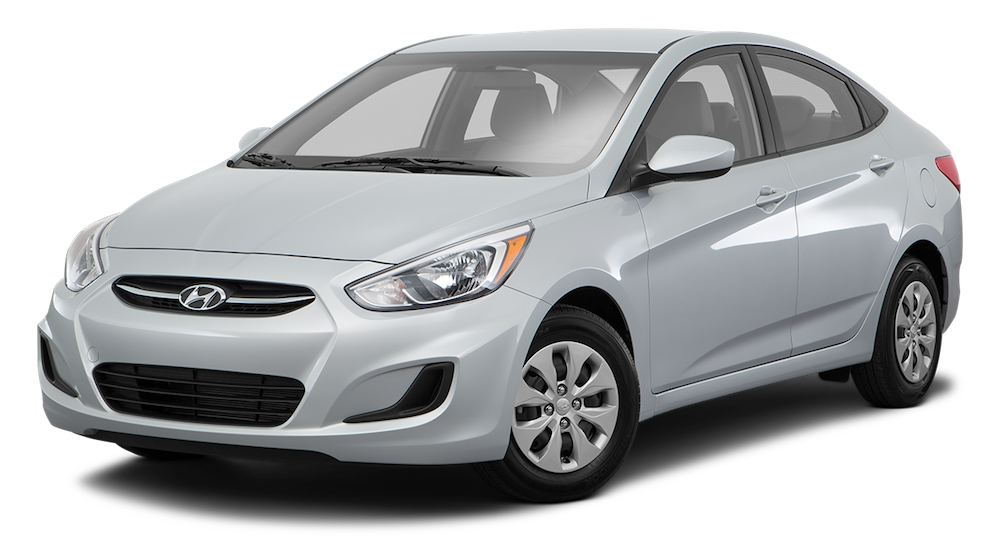 Silver Used Hyundai Accent angled left