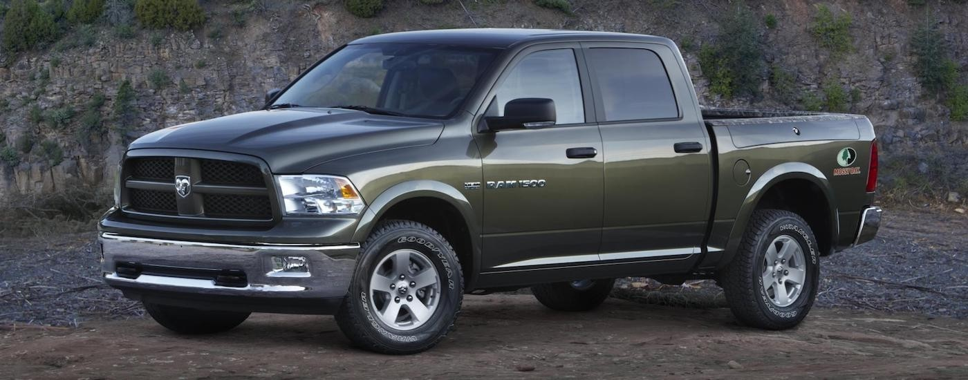 Green 2012 Used RAM 1500 in the desert