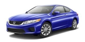 Blue Used Honda Accord angled left