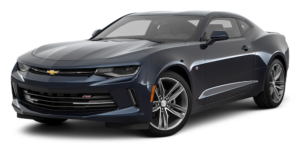 Dark Blue 2016 Used Chevy Camaro angled left