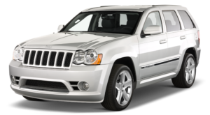 Silver Used Jeep Grand Cherokee angled left