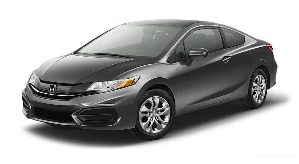 Dark gray 2015 Used Honda Civic angled left