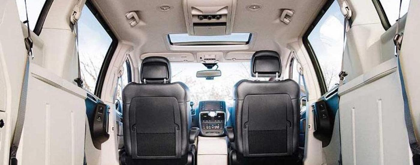 Interior of a 2013 Used Chrysler Town & Country for sale in Cincinnati