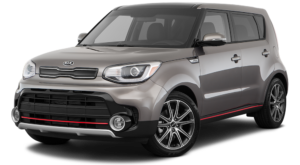 2018 Grey Kia Soul angled left