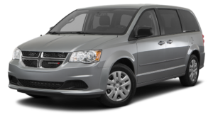 Grey Used Dodge Grand Caravan angled left