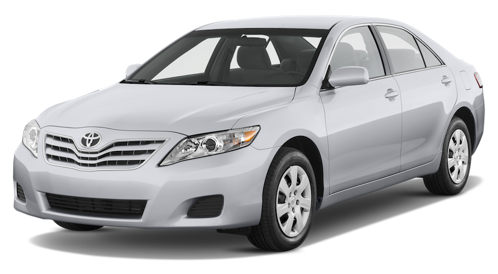 White Used Toyota Camry