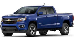 Blue 2017 Used Chevy Colorado angled left