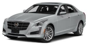 White Used Cadillac CTS angled left