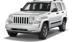 White Used Jeep Liberty angled left