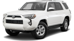 White 2016 Used Toyota 4Runner angled left