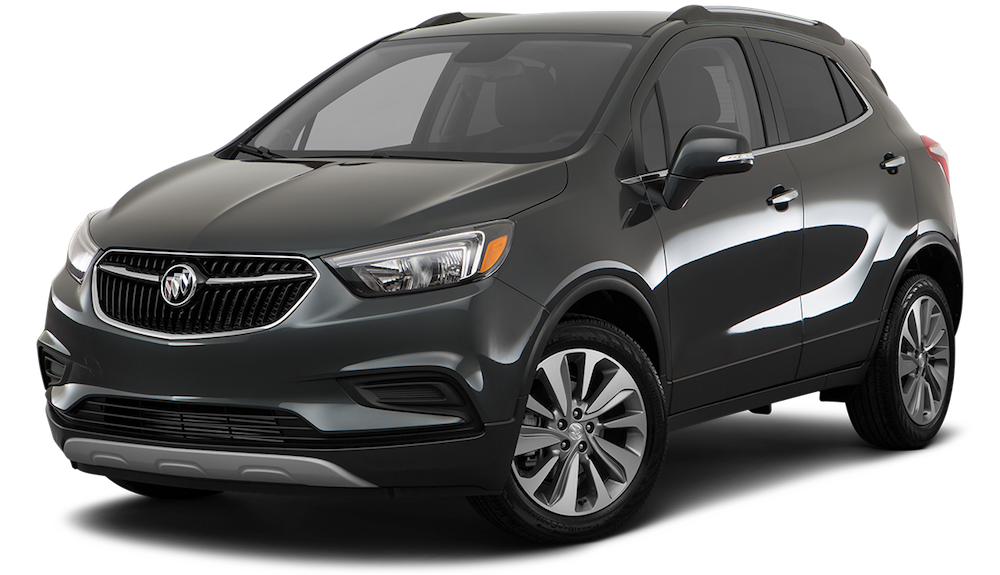 Black Used Buick Encore angled left