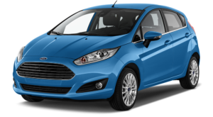 Blue Used Ford Fiesta angled left