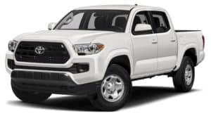 White 2016 Used Toyota Tacoma angled left