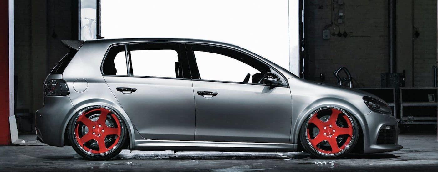 Silver 2012 Used Volkswagen Golf parked in garage
