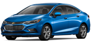 Blue 2017 Used Chevy Cruze angled left