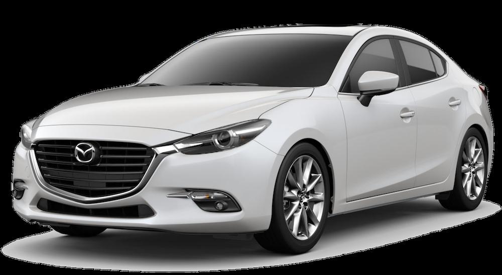 White Used Mazda3 angled left