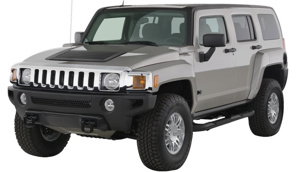 Silver Used Hummer H3 angled left