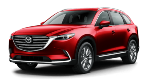 Dark red Used Mazda CX-9 angled left