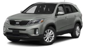 Gray Used Kia Sorento angled left