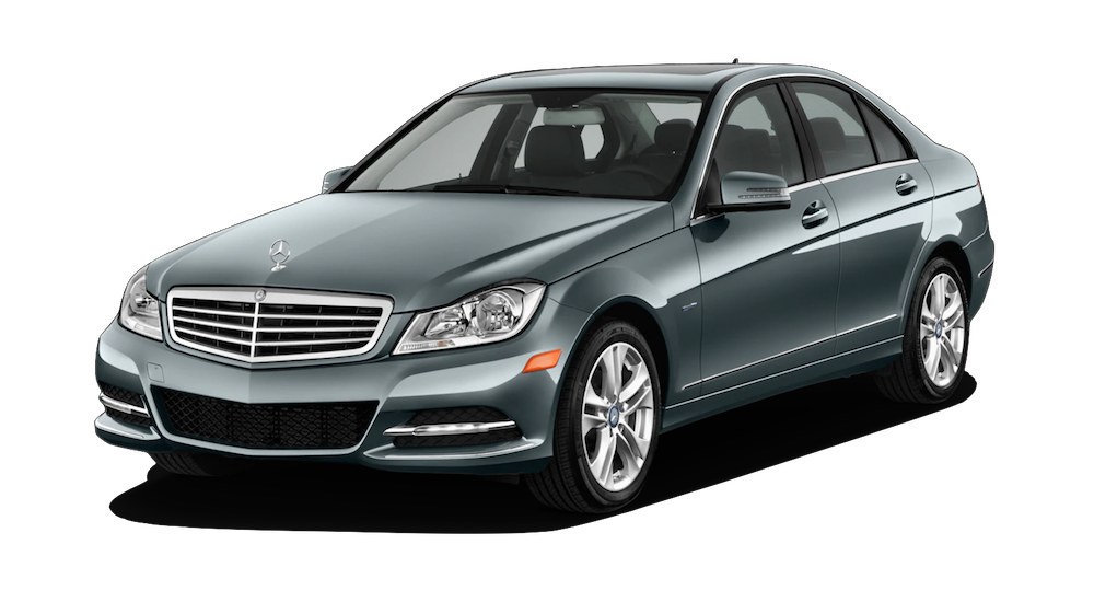 Gray Used Mercedes C-Class angled left