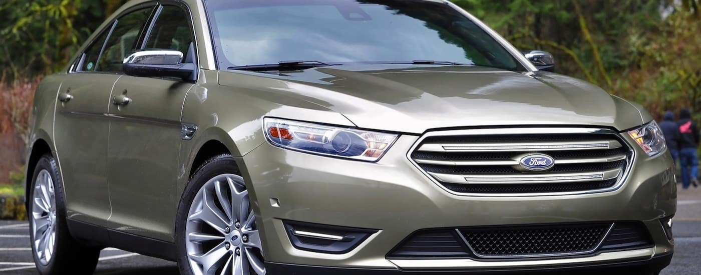 Silver 2014 Used Ford Taurus in parking lot
