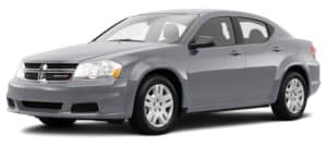 Gray Used Dodge Avenger angled left
