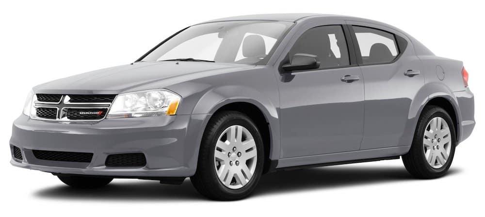 Gray Used Dodge Avenger angled left