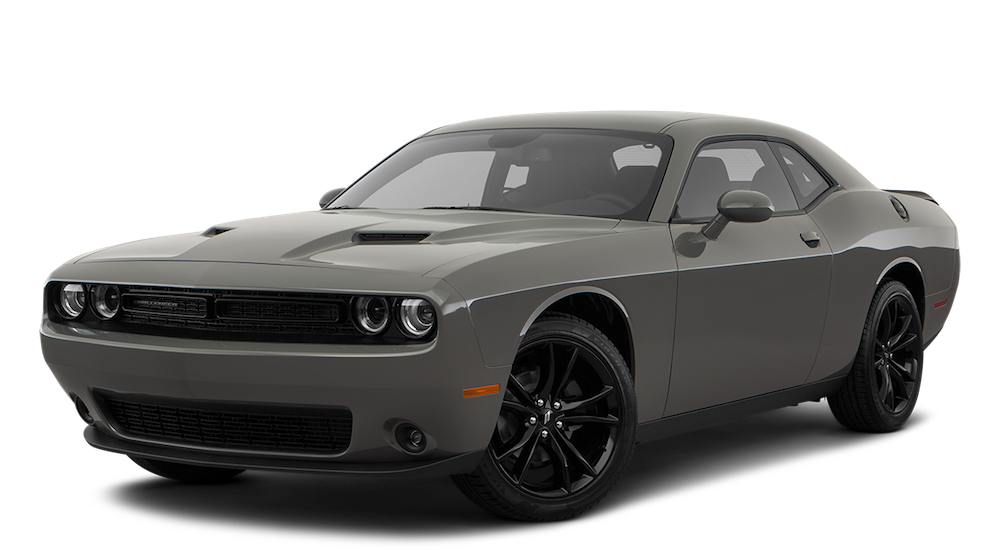 Gray Used Dodge Challenger angled left