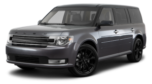 Gray Used Ford Flex angled left