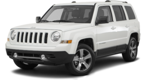 White Used Jeep Patriot angled left