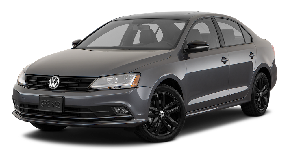 Dark gray Used Volkswagen Jetta angled left