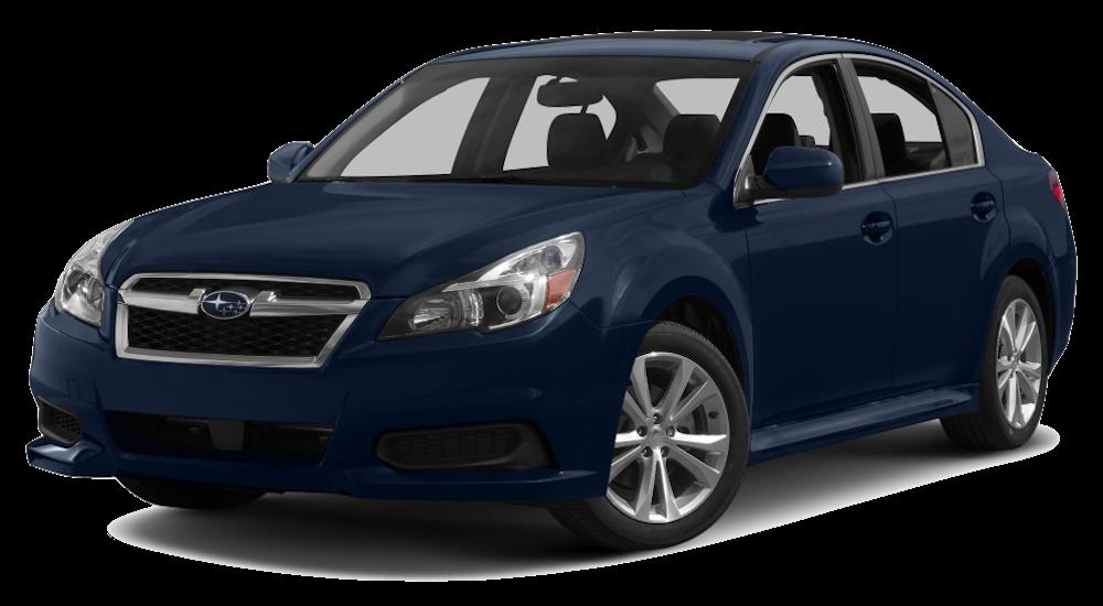 Dark blue Used Subaru Legacy angled left