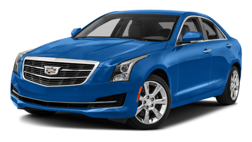 Blue 2017 used Cadillac ATS facing left