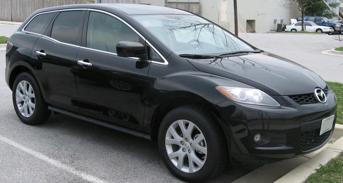 Black 2007 used Mazda CX-7 in parking lot