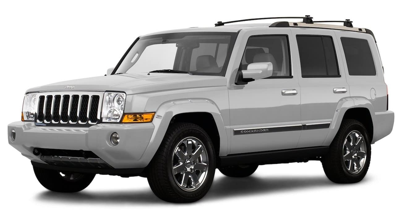 Silver 2009 used Jeep Commander on white