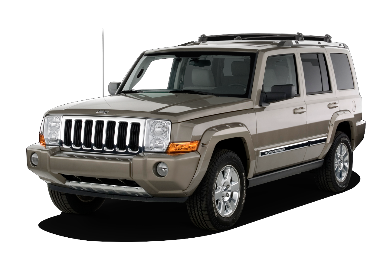 Brown 2010 used Jeep Commander on white background