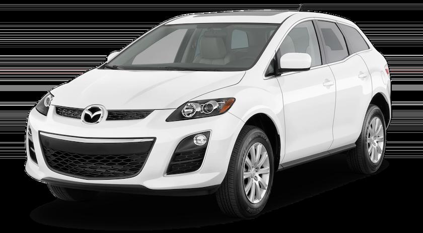 White 2010 Mazda CX7 on white background