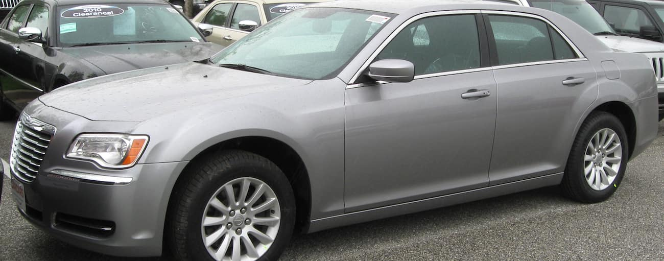 Gray 2011 used Chrysler 300 on a car lot