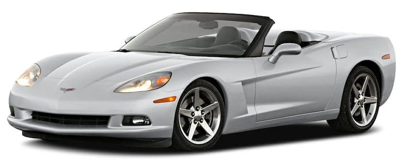 A silver C6 Chevy Corvette from McCluskey Auto