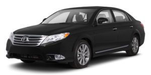 A black used Toyota Avalon from McCluskey Auto