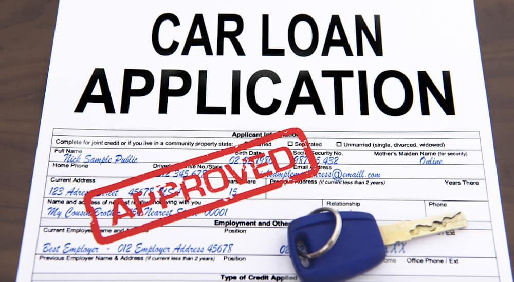 An application for buy here pay here financing approved
