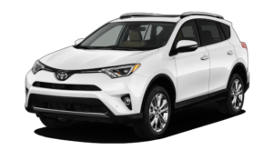 White Used Toyota RAV4 facing left