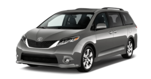 A used silver Toyota Sienna from McCluskey Auto