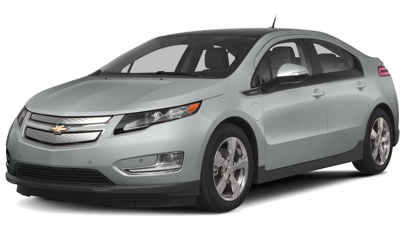 A gray 2011 used Chevy Volt on white
