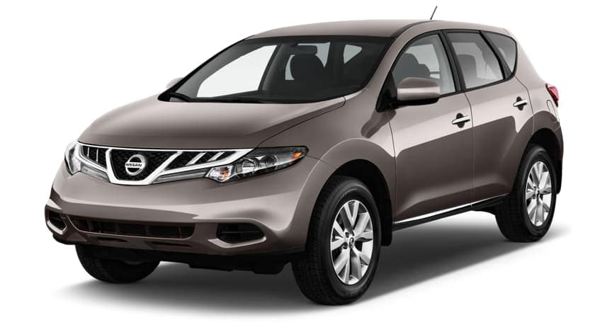 A 2013 used Nissan Murano is left facing on a white background.