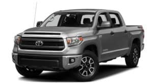 A grey 2017 Toyota Tundra is facing left.