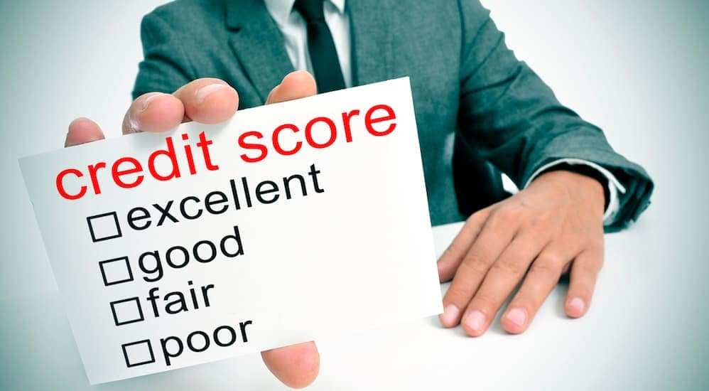 A credit score sheet is shown with questions of what a BHPH dealership will ask you in Louisville, OH