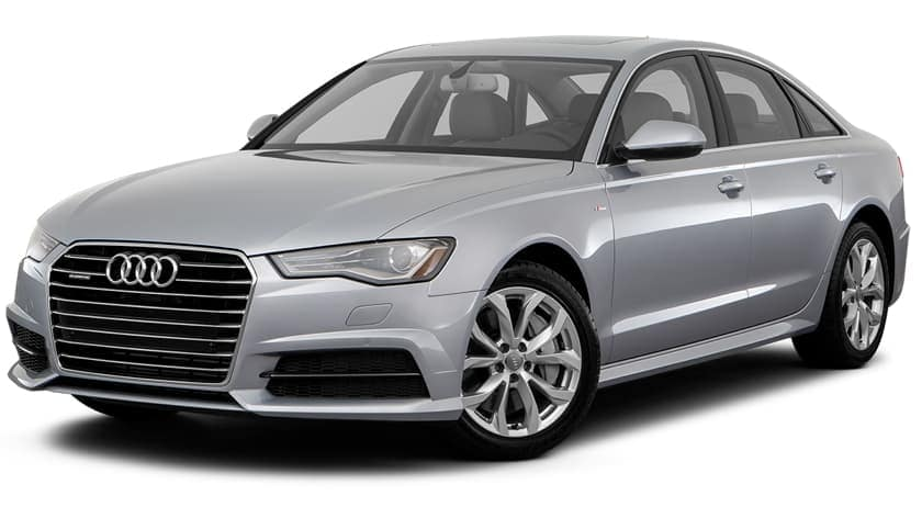 A silver 2017 used Audi A6 is facing left.