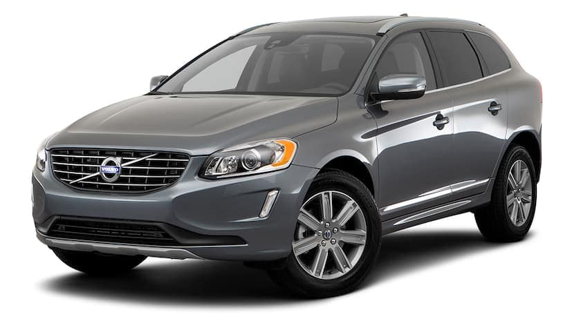 A grey 2017 used Volvo XC60 is facing left.